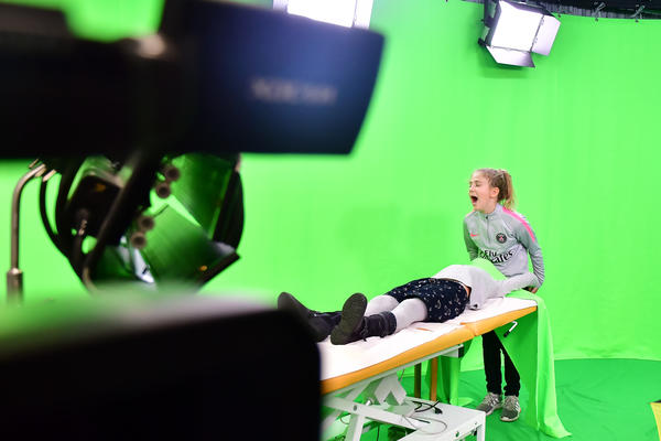 Virtual spaces in 3D for video recordings with green screen